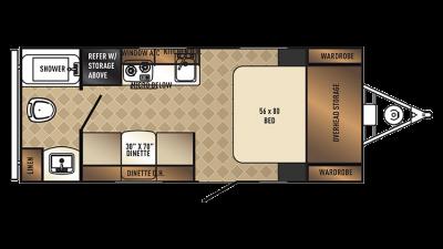 2018 PaloMini 180FB Floor Plan