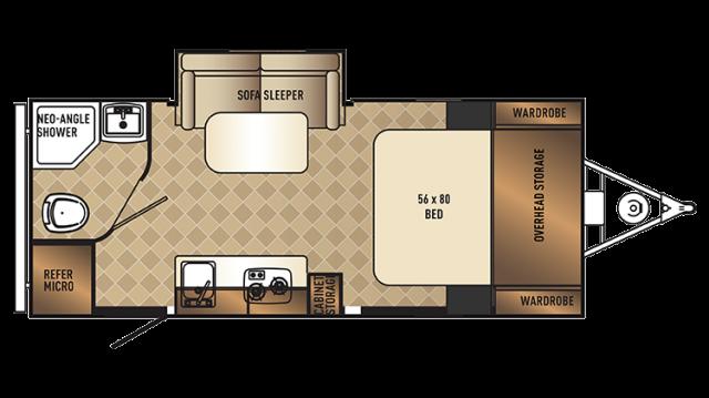 2018 PaloMini 181FBS Floor Plan