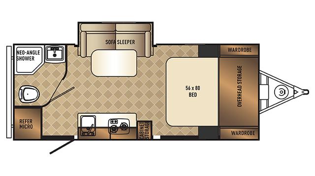 2017 PaloMini 181FBS Floor Plan