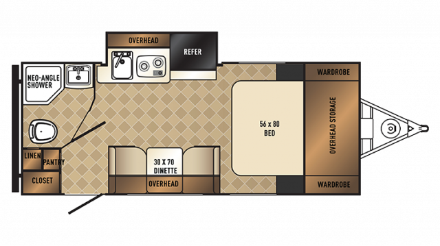 2018 PaloMini 182SK Floor Plan