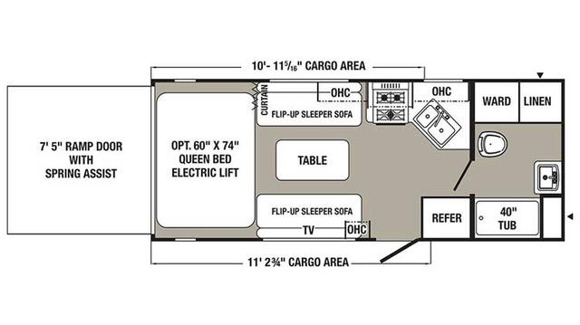 2016 Puma Unleashed 21TFU Floor Plan