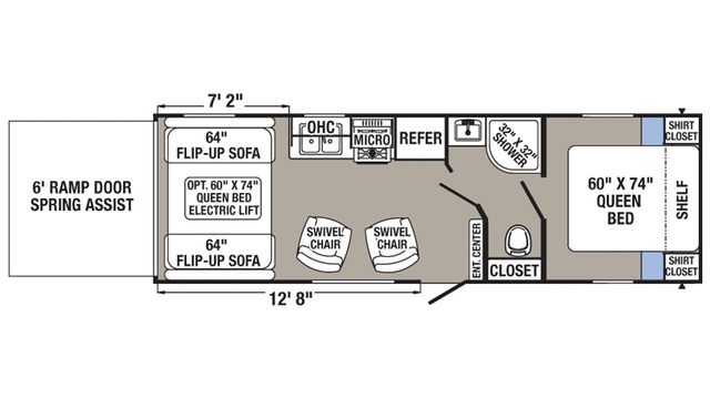 2016 Puma XLE 25FBC Floor Plan
