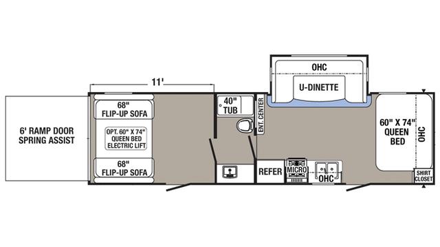 2018 Puma XLE 29FQC Floor Plan