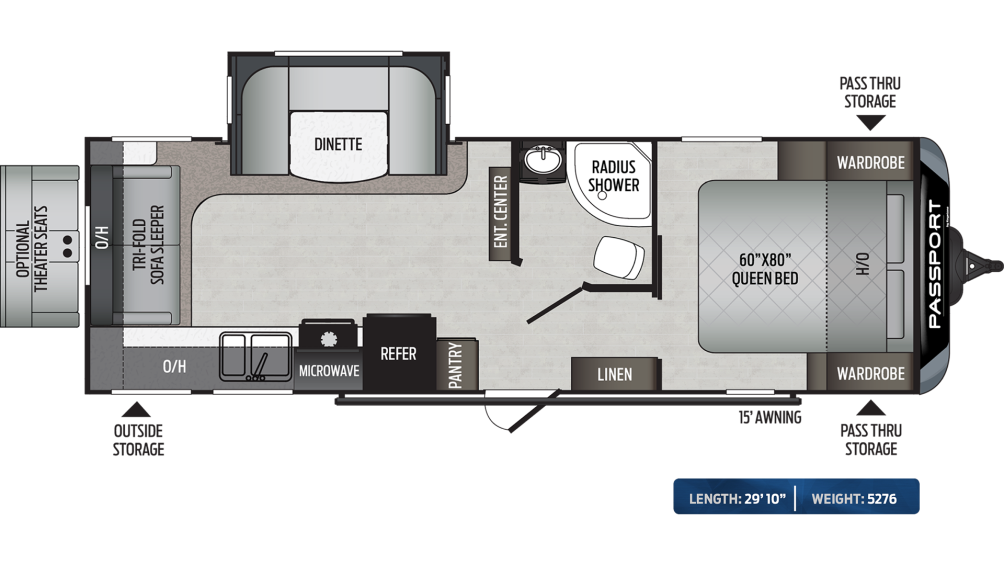 Passport GT Series 2521RL Floor Plan - 2020