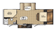2016 SolAire Ultra Lite 239DSBH Floor Plan