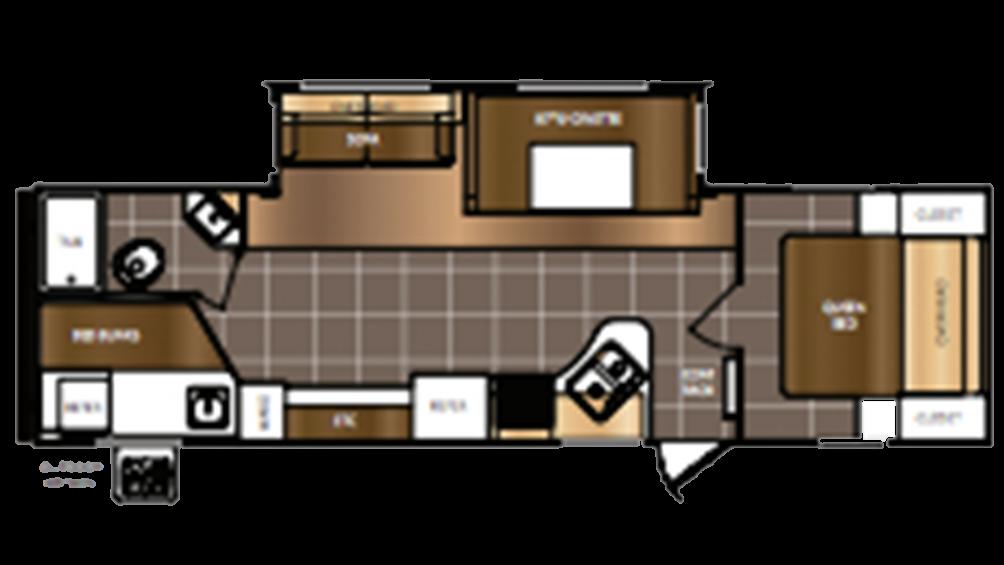 2016 Avenger 27DBS Floor Plan Img