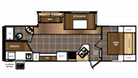 2016 Avenger 27DBS Floor Plan