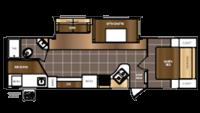 2016 Avenger 27DBS Floor Plan