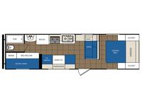 2013 Avenger 26BH Floor Plan