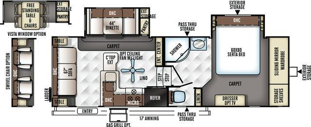 2017 Rockwood Signature Ultra Lite 8244BS Floor Plan