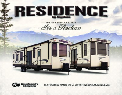 2017 Keystone Residence RV Brand Brochure Cover