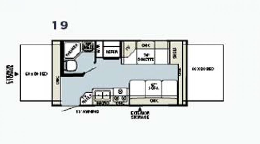 Rockwood Roo 19 Floor Plan - 2005