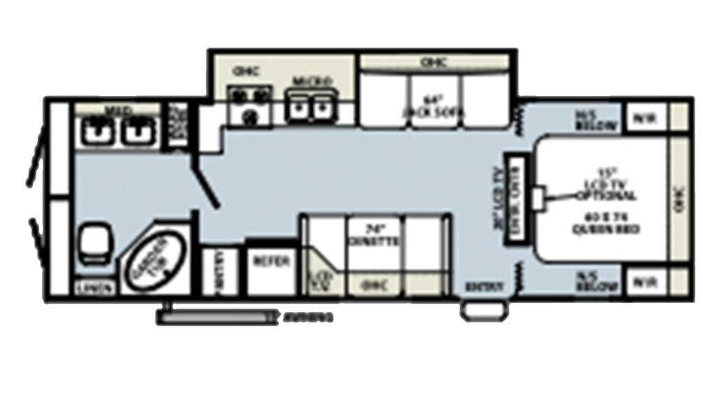 Rockwood Ultra Lite 2607 Floor Plan - 2008