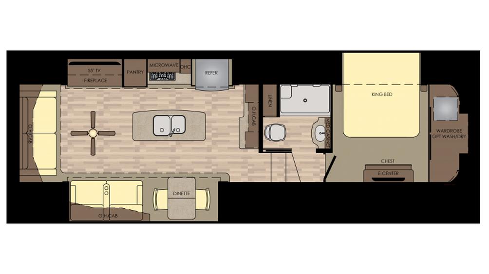 2018 Redwood 340RL Floor Plan
