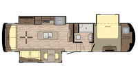 2019 Redwood 3401RL Floor Plan