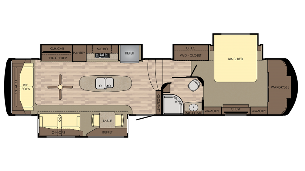 2018 Redwood 3821RL Floor Plan