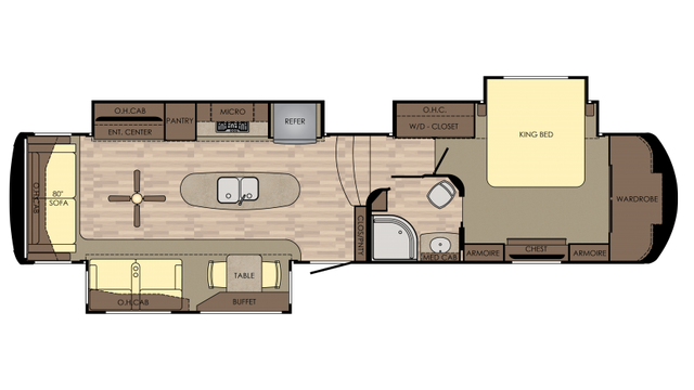 2018 Redwood 3821RL Floor Plan