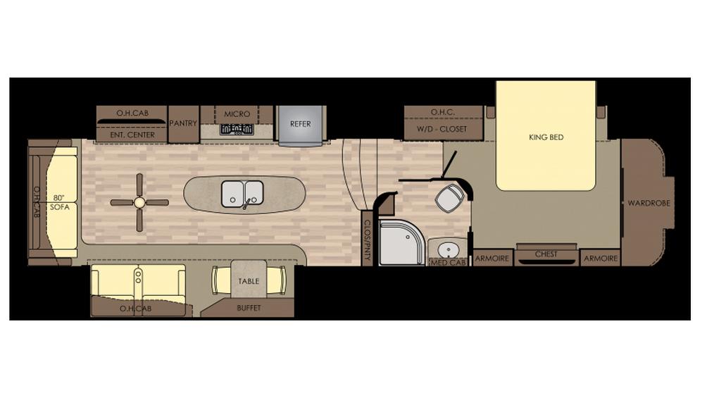 2018 Redwood 382RL Floor Plan