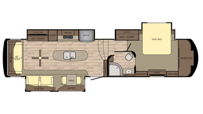 2018 Redwood 382RL Floor Plan