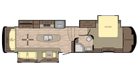 2019 Redwood 382RL Floor Plan