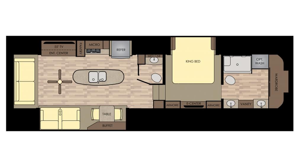 2018 Redwood 390MB Floor Plan
