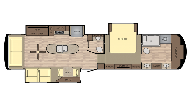 2018 Redwood 390MB Floor Plan