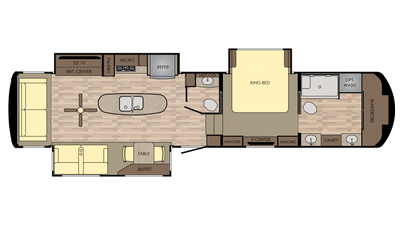 2018 Redwood 3901MB Floor Plan