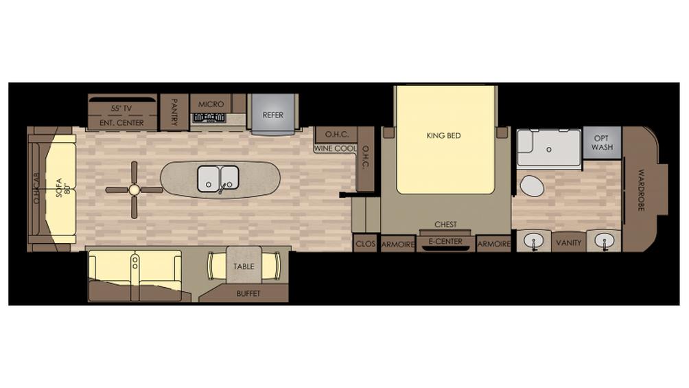 2018 Redwood 390WB Floor Plan
