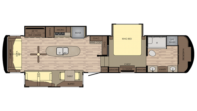 2018 Redwood 390WB Floor Plan