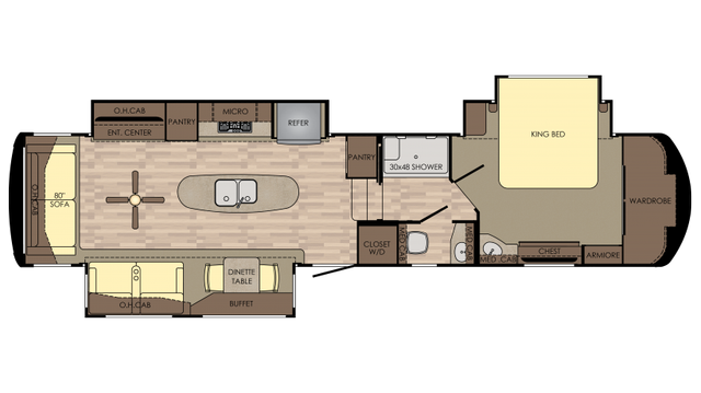 2018 Redwood 392GK Floor Plan
