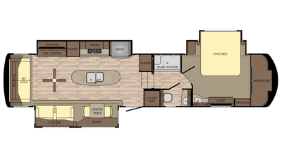 2018 Redwood 3921GK Floor Plan