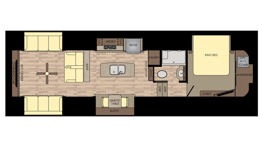2018 Redwood 399RD Floor Plan