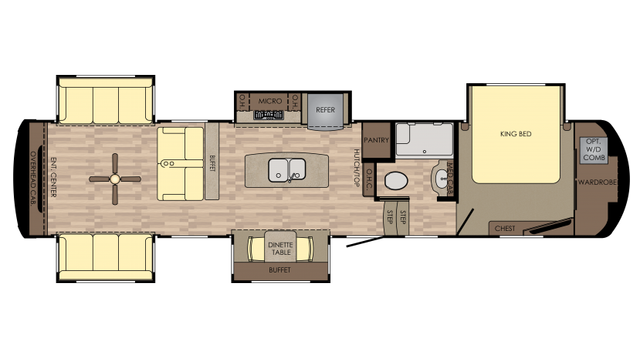 2018 Redwood 399RD Floor Plan