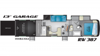 2019 Road Warrior RW387 Floor Plan