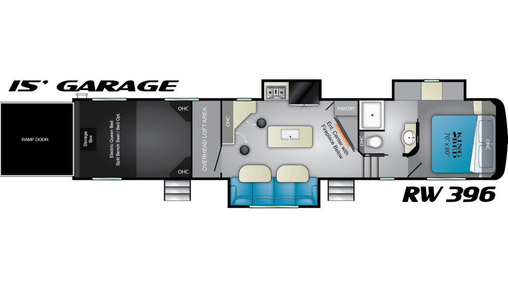2019 Road Warrior RW396 Floor Plan Img