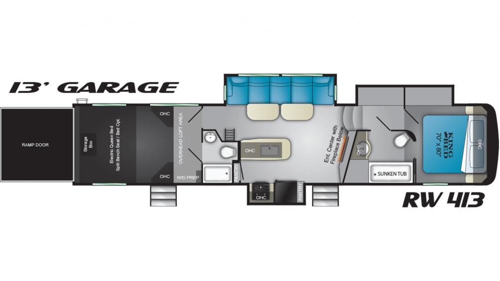 2019 Road Warrior RW413 Floor Plan Img
