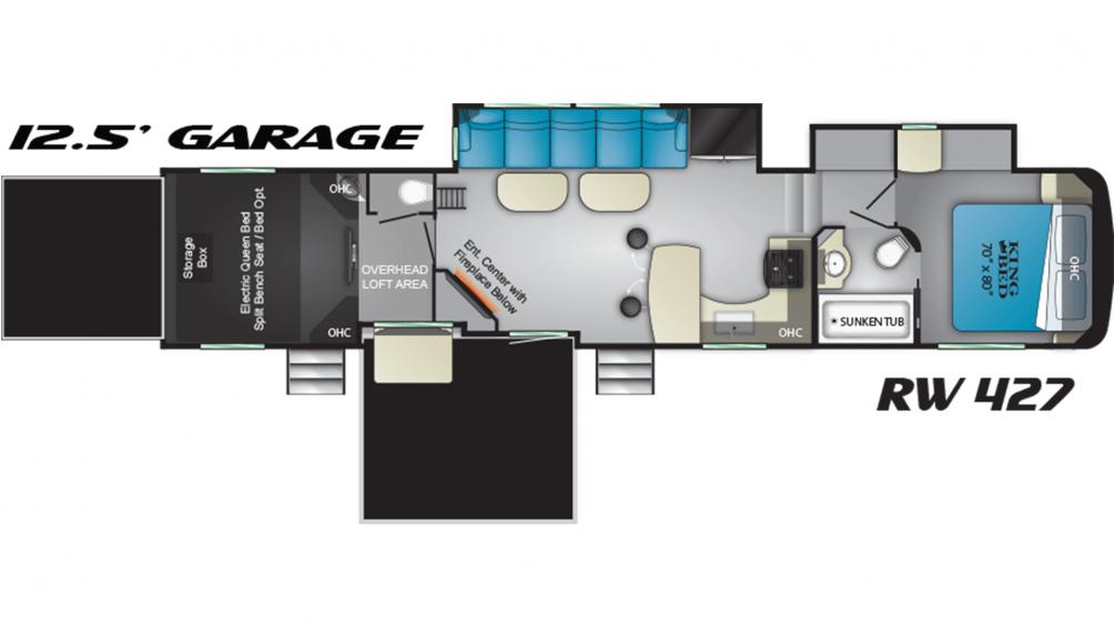 2019 Road Warrior RW427 Floor Plan Img