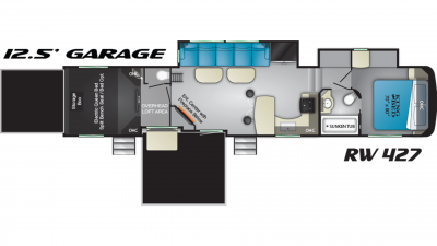 2019 Road Warrior RW427 Floor Plan Img