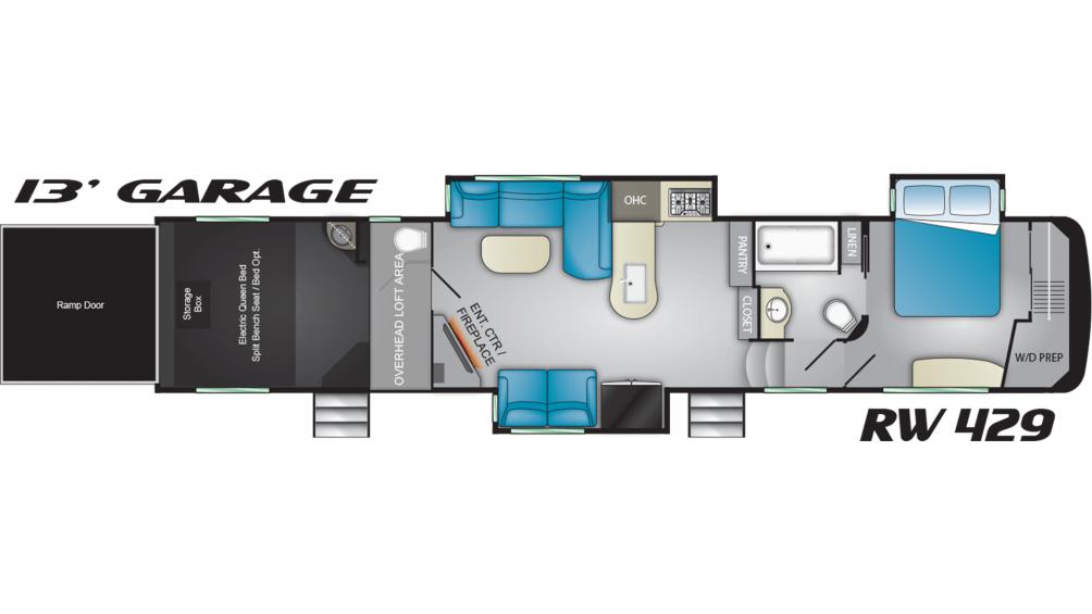 2019 Road Warrior RW429 Floor Plan Img