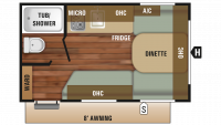2018 Autumn Ridge Outfitter 14RB Floor Plan