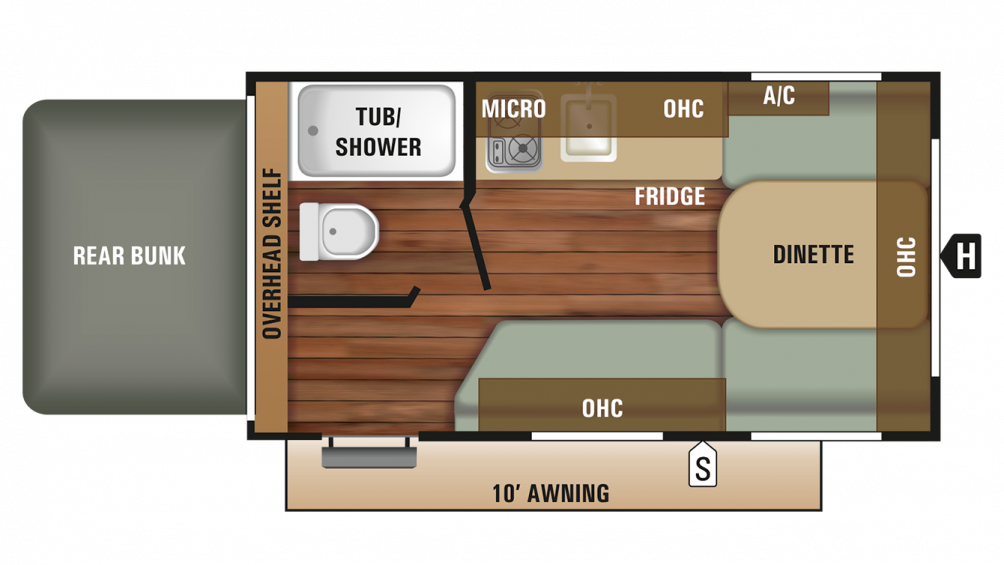 2018 Autumn Ridge Outfitter 15RB Floor Plan Img
