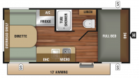 2019 Autumn Ridge Outfitter 17RD Floor Plan