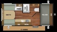 2018 Autumn Ridge Outfitter 17RD Floor Plan