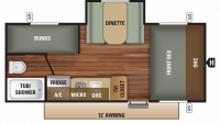 2018 Autumn Ridge Outfitter 18BHS Floor Plan
