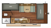 2018 Autumn Ridge Outfitter 19BH Floor Plan