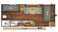2018 Autumn Ridge Outfitter 20BH Floor Plan