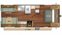 2018 Autumn Ridge Outfitter 21FB Floor Plan