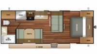 2019 Autumn Ridge Outfitter 23FB Floor Plan