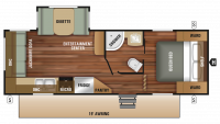 2018 Autumn Ridge Outfitter 23RLS Floor Plan