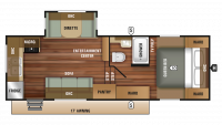 2019 Autumn Ridge Outfitter 245RKS Floor Plan